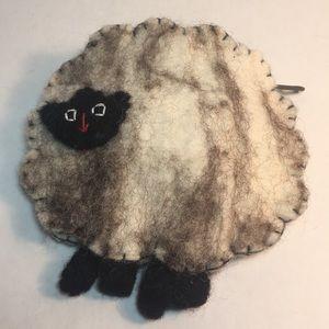 Handbags - 💯 Wool Lamb Change Purse Wallet